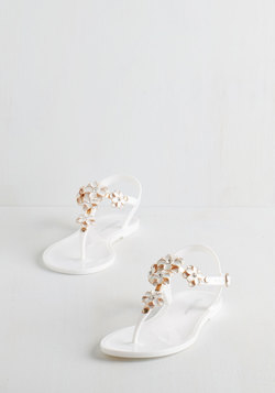 Gild Me Up Buttercup Sandal in White