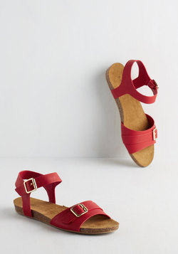 Beaufort Beauty Sandal in Crimson