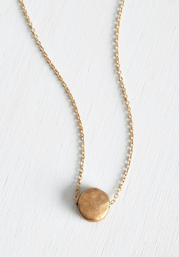 Gild to Last Necklace - Solid, Casual, Minimal, Gold