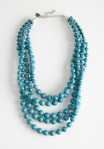 You Bijou Necklace in Sea - Blue, Beads, Solid, Variation