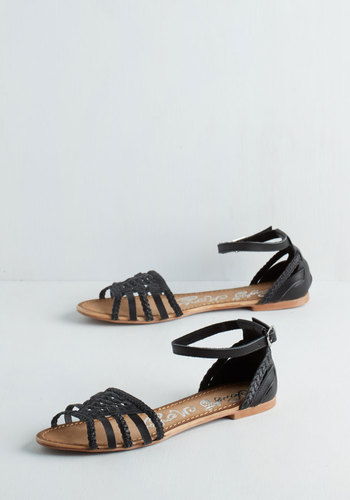 Cape May I Join You? Sandal in Black