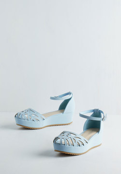 Flatform of Flattery Wedge in Blue