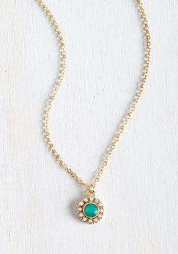 Delicate Drop Necklace in Mint