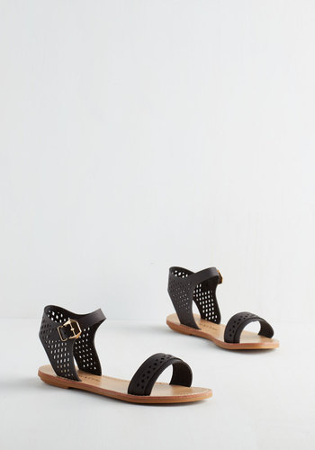 Pep Up the Pace Sandal in Black