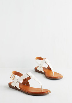 We've Yacht a Situation Sandal in White