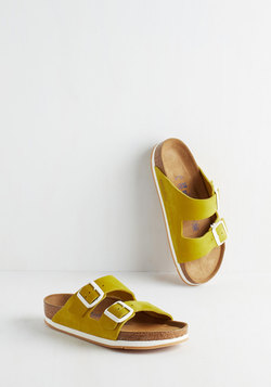 Strappy Camper Sandal in Chartreuse