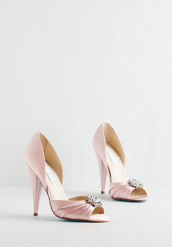 Fancy and You Know It Heel in Blush