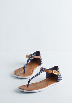 As Far as I Can Sea Sandal in Navy