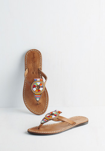 What Will Be Will Bead Sandal