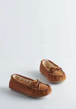 Classically Cozy Suede Slipper in Cinnamon