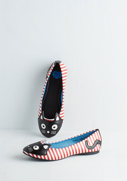Up Your Alley Cat Flat in Stripes