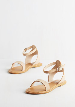 Lighthearted on Your Feet Sandal in Beige