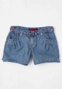 Island in the Fun Shorts in Light Wash