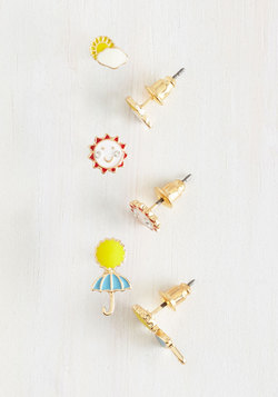 Sun Like it Hot Earrings Set