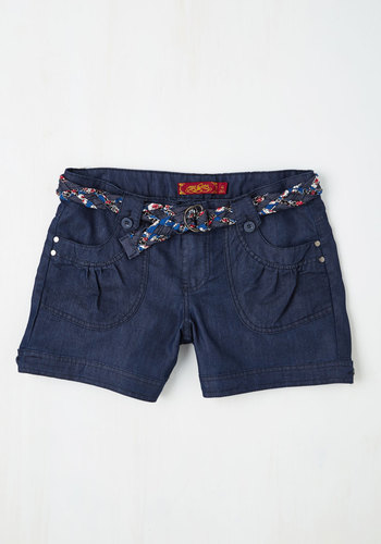 Island in the Fun Shorts in Dark Wash