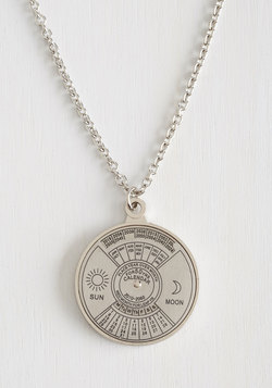 Spin Me Right 'Round Time Necklace