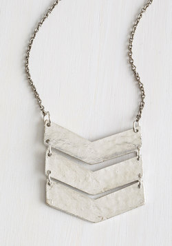 On a Silver Flatter Necklace