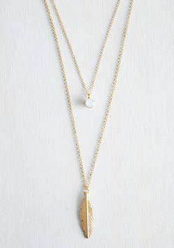 The Sooner the Feather Necklace