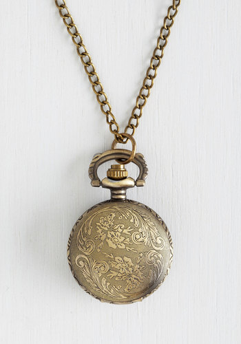 Today's Timeline Necklace in Bronze - Gold, Solid, Gold, Better, Vintage Inspired, 20s, Gals, Top Rated