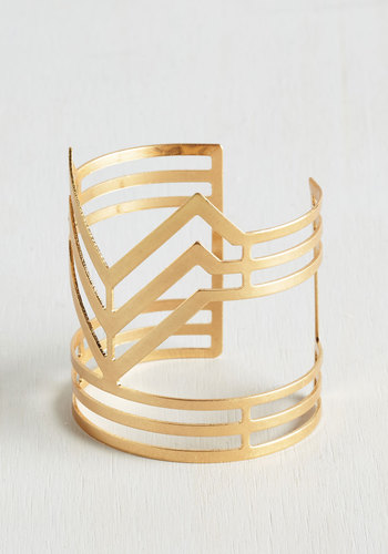 Highlight of the Show Bracelet - Solid, Party, Casual, Boho, Statement, Festival, Gold, Minimal, Fall, 70s