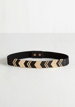 Chevron the Right Path Belt in Black