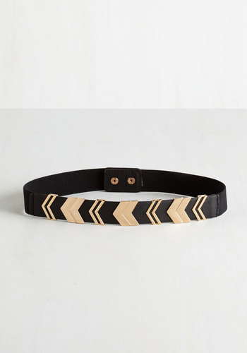 Chevron the Right Path Belt in Black - Black, Urban, Darling, Festival, Gold, Chevron, Variation, Top Rated