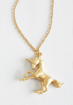 The Golden Unicorn Necklace