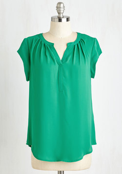 Most Lightly to Succeed Top in Green