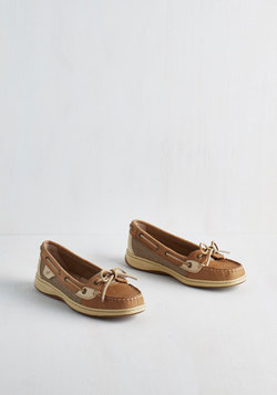 Sail Yeah! Flats in Tan