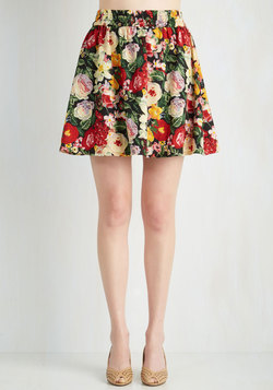 Parlez Vous Bouquet? Skirt