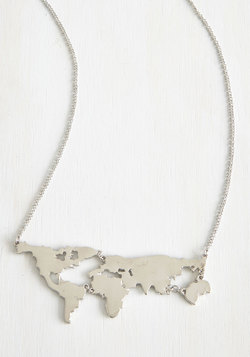 There's a Map for That Necklace in Silver