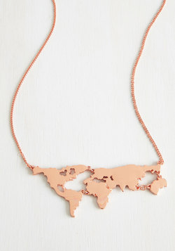 There's a Map for That Necklace in Copper