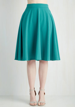 Bugle Joy Skirt in Teal