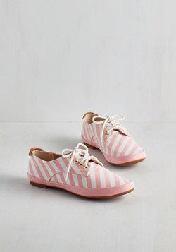 You're Baking Me Blush Sneaker in Stripes