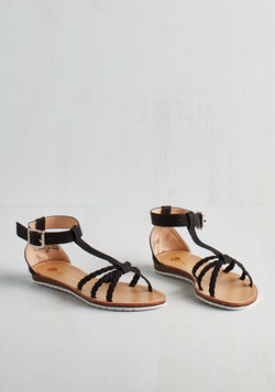 Paso Robles Sandal in Noir