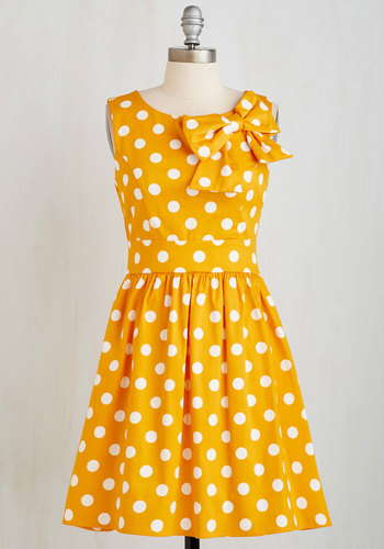 The Pennsylvania Polka Dress in Honey Dots