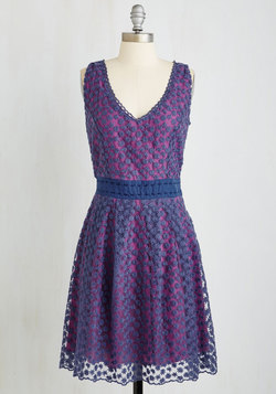 Early Morning Moments Dress in Violet