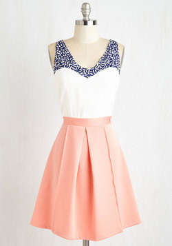 Shorefront Sherbet Dress