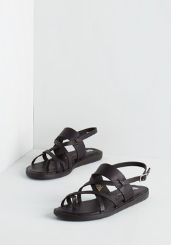 Will You Bay Mine? Sandals in Black