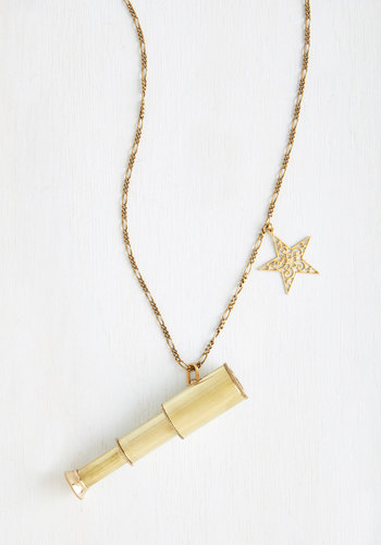 In the Distance Necklace - Casual, Gold, Solid, Scholastic/Collegiate, Gold, Quirky, Press Placement, Cosmic, Top Rated