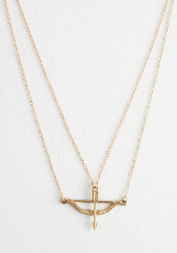Signed, Sealed, and Quivered Necklace in Gold