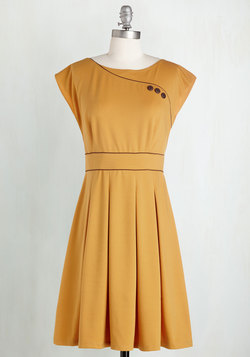 Topiary Tour Dress in Marigold