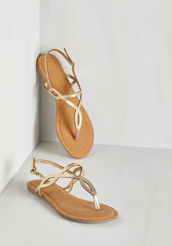 Know Only Too Swell Sandal in Gold