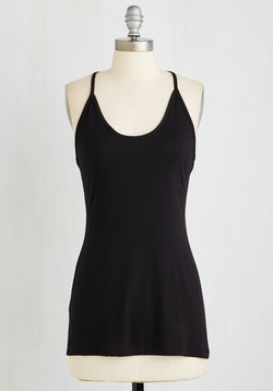 On the Om Stretch Top in Black