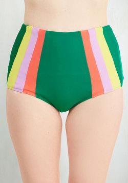 Raise the Barometer Swimsuit Bottom in Seaweed