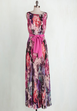 Perennial Pose Dress in Fuchsia