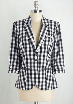 Checker It and See Blazer