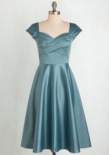 Pine All Mine Dress in Dusty Blue $179.99 AT vintagedancer.com