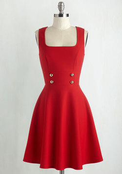 Delightfully Charming Dress in Ruby