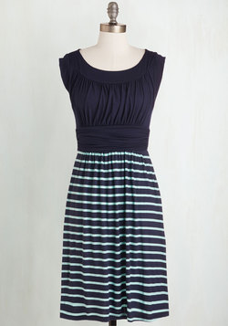I Love Your Dress in Navy Stripes